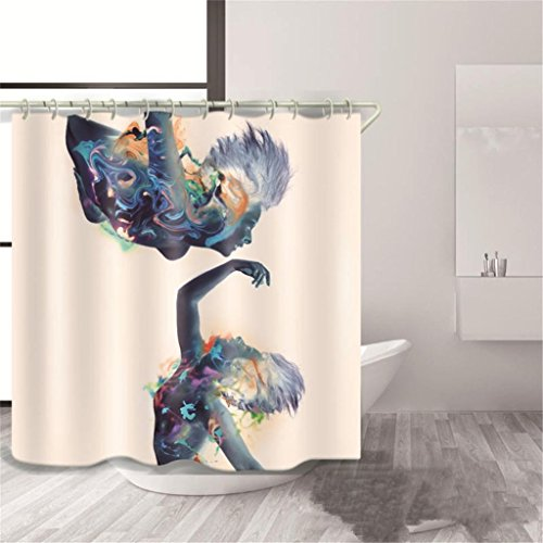 GFYWZ Tende doccia impermeabile bagno in poliestere 3D , 2 , 150*180