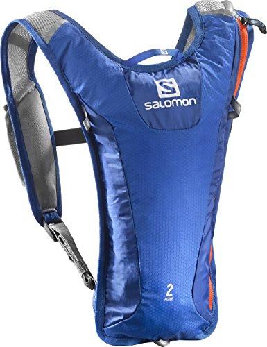 Salomon AGILE 2 SET, Zaino super leggero, 3 litri, Ideale per lo sci, lo snowboard o il running su strada, Dimensioni: 40 x 20 x 2 cm, Peso: 171g, AGILE 2 SET, Blu/Arancione, L38235400