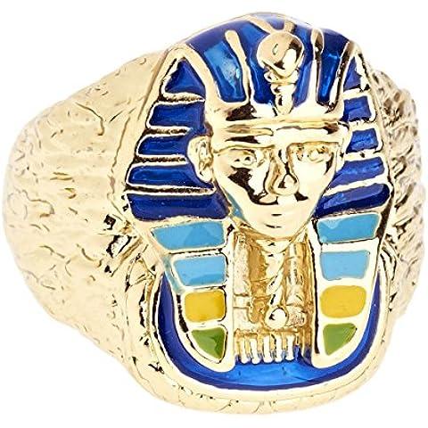 Heló hacia fuera Bling Hip Hop diseñador anillo - Pharaoh oro