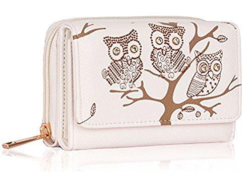 Trendstar Frauen Brieftaschen Damen Geldbörsen Kleine Hoch Qualität Mädchen Kartenhalter Neue (Elfenbein) (Damen Neue Geldbörse)