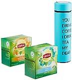 Lipton Geschenkset Tee to Go, mit Thermosflasche, 68 g