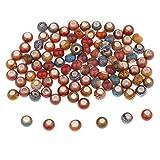 P Prettyia 50 Pezzi Perline Assortiti Smalto Ceramico Grande Foro Europeo Monili Che Fanno Accessori