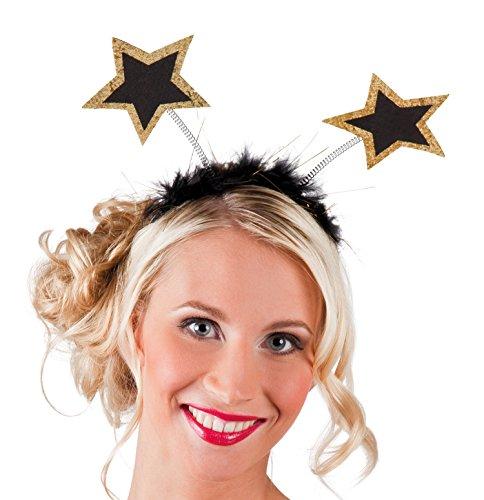 Boland 44163 - Haarreif VIP Stars, Einheitsgröße, Gold (Hollywood-stars Halloween-kostüme Die)