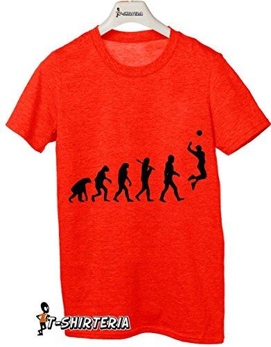 Tshirt volleyball evolution - pallavolo - sport - Tutte le taglie Rosso