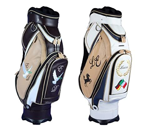 Exklusives Echtleder CustomGolfBag MORFONTAINE 4 individualisierte Bereiche in