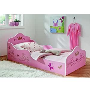 prinzessinnenbett prinzessin kinderbett rosa kinder bett mit lattenrost 90 x 200. Black Bedroom Furniture Sets. Home Design Ideas
