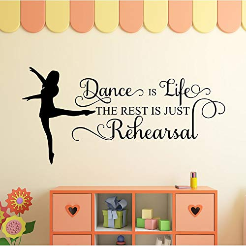 Yucca Valley 'Dance Is Life' Wall Decal -