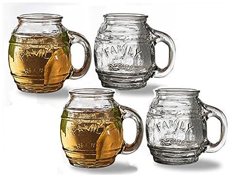 Yorkshire Family Recipe Barrel Mugs 17.5oz - Set of 4
