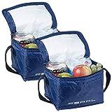 PEARL Mini Kühlbox: 2er-Set isolierte Mini-Kühltaschen mit Tragegurt, je 2,5 Liter (Reise-Kühltasche)
