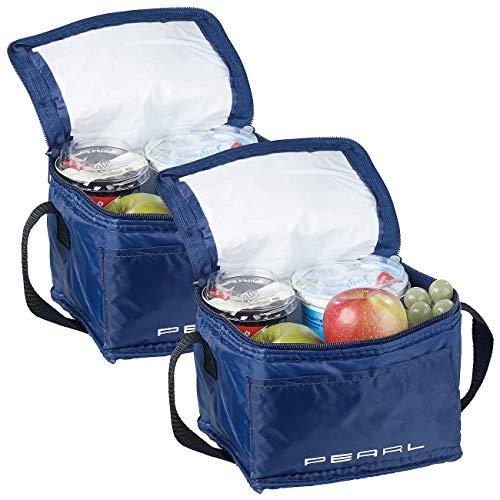 PEARL Isoliertasche: 2er-Set isolierte Mini-Kühltaschen mit Tragegurt, je 2,5 Liter (Kuehltasche)