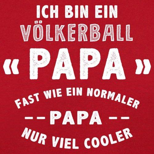 Ich bin ein Völkerball Papa - Herren T-Shirt - 13 Farben Rot