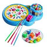 Fajiabao Electronic Rotating Magnetic Fishing Game with Music and Light (Blue)