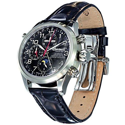 Ingersoll Cooke in6110bk–Watch for Men, Leather Strap Black