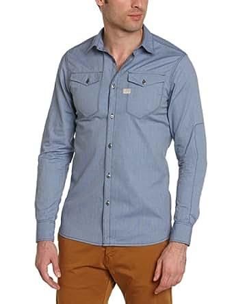 G-star - tacoma - chemise casual - coupe droite - homme - bleu (mazarine blue) - X-Large