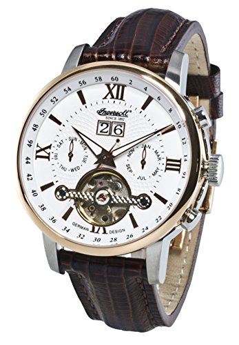 Ingersoll-Mens-Automatic-Watch-with-Dial-Chronograph-Display-and-Leather-Strap