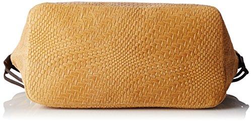 Chicca Borse Damen 80061 Schultertasche, 46 x 30 x 17 cm Braun (Cuoio)
