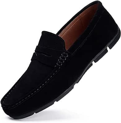 HKR Scarpe da Uomo Mocassini in Pelle Slip On Loafers Scarpe da Guida