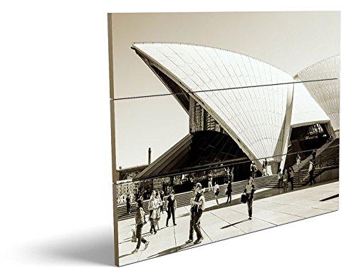 Theater, qualitatives MDF-Holzbild im Drei-Brett-Design mit hochwertigem und ökologischem UV-Druck Format: 80x60cm, hervorragend als Wanddekoration für Ihr Büro oder Zimmer, ein Hingucker, kein Leinwand-Bild oder Gemälde