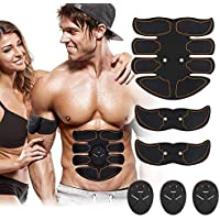 Electrostimulateur Musculaire, Smart Appareil de Fitness EMS Ceinture Abdominale,Appareil Abdominal Massage,Abdominal/Bras/Cuisses Muscle Stimulateur Hommes et Femmes