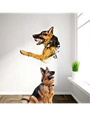Rawpockets 'Pet Dog' Wall Sticker (PVC Vinyl, 80 cm x 80cm)
