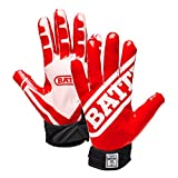 Battle Football Glove, Red/White, Adult X-Large