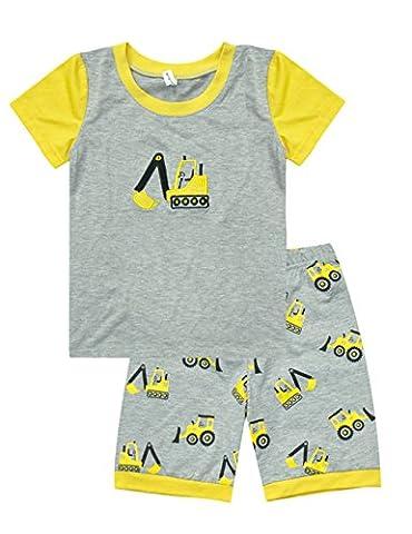 Little Hand Baby Jungen Kinder Sommer Bekleidung zweiteilige Maschine Schlafanzug 98 104 110 116