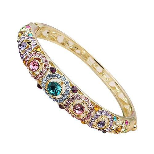 Baden Beauty-geschenk (Fashion Frauen Schmuck Armreif 24 K Gold vergoldet Armband Best Valentine Geschenk für Frauen)