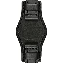 22mm Astroavia L4U4 Correa de piel negro