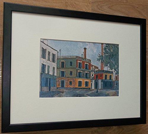 gerahmt Französisch Szene Print–30,5x 40,6cm Rahmen, Fabriken von Utrillo