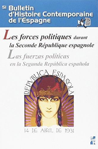 Forces politiques durant la seconde république espagnole par Juan Avilés