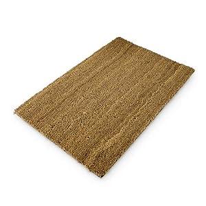 Relaxdays Fußmatte Kokos natur 40 x 60 cm Kokosmatte mit rutschfester PVC Unterlage Fußabtreter aus Kokosfaser als Schmutzfangmatte und Sauberlaufmatte Fußabstreifer für Außen und Innen, braun