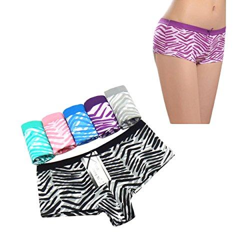 You&New 2 Pairs Ladies Zebra Print Underwear Knickers Briefs Panties Boxer Boy-Shorts Boyshorts