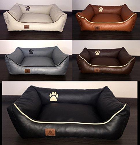 hundebett kunst leder luxus hundebett hundesofa katzenbett hundekorb s m l xl xxl xxxl dollaro. Black Bedroom Furniture Sets. Home Design Ideas