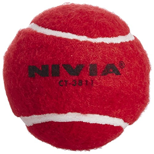 Nivia Heavy Weight Cricket Tennis Ball, Pack of 6 (Red)  available at amazon for Rs.355