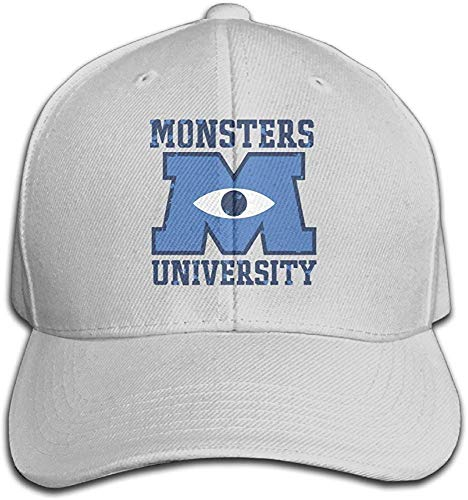 Imagen de hittings bacadi unisex m u monsters university logo adjustable peaked baseball caps hats duck tongue hat ash