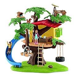 Im Schleich Baumhaus können die beiden Kinder der Bauernfamilie Sarah und Ben stundenlang toben, spielen und picknicken. Wer hat noch nicht von einem eigenen Baumhaus geträumt? Das Set beinhaltet viele Funktionen für langanhaltenden Spielspaß. Währen...