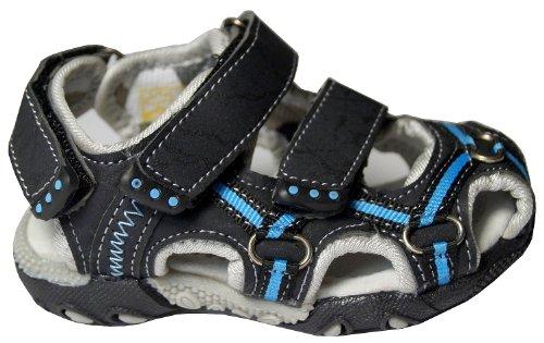 Gibra ® lederinnensohle sandales de randonnée pour enfant noir pointure 29–35 Noir - Noir