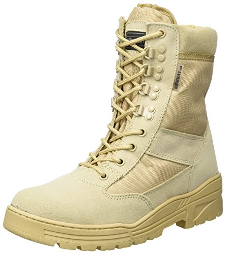 Kombat Uk Army Boots / Stivali Militari / Stivali Di Pelle / Stivali Di Pelle Scamosciata, Beige Chiaro, Beige Scuro