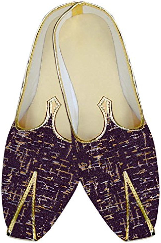 INMONARCH Vino Púrpura Hombres Boda Zapatos Impreso MJ010555