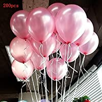 Seguryy Sachet De 100 Ballons Nacrés Perle Latex ¬¬–10pouces Ballons Décoration pour Anniversaire Mariage Soirée Partie
