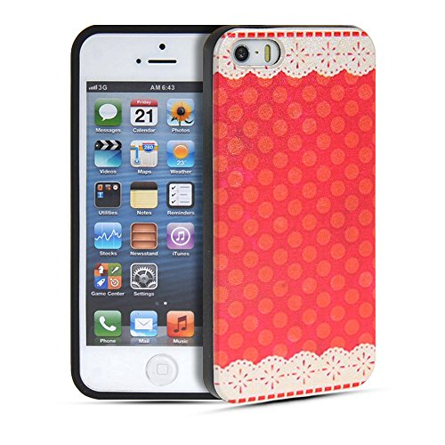 iPhone 5 5S Coque,COOLKE [007] Fashion Trend Coque de protection en TPU Silicone Gel arriere Etui Housse Shell Molle Case Cover Pour Apple iPhone 5 5S 002