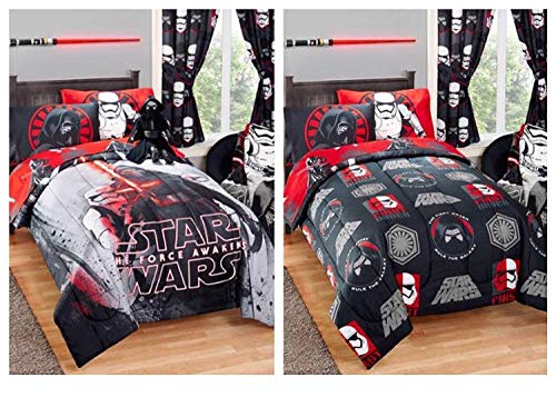 Star Wars Kylo REN wendbar Kids Twin/Full Größe Bett Tröster-182,9x 218,4cm - Full-size-tröster-sets