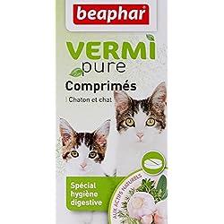 Beaphar - VERMIpure, comprimés hygiène digestive - chat - 50 comprimés