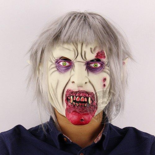 WKAIJCA Halloween Maske Vampir Zombie Zombie Horror Bar Kammer Flucht Kleid Requisiten (Paare Unheimlich)