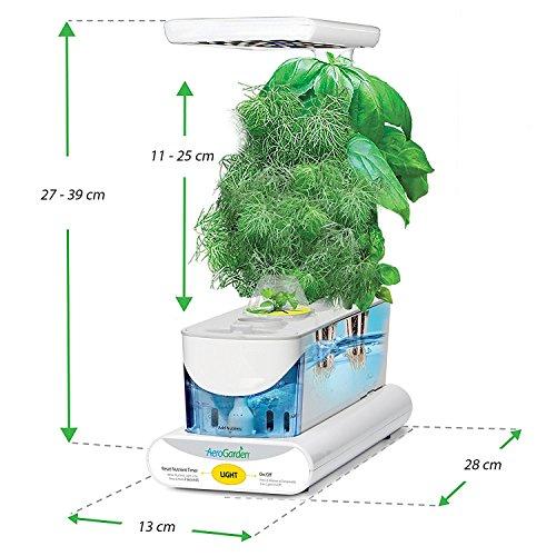 Miracle-Gro AeroGarden Sprout LED avec kit de capsules de graines d'herbes gourmets (blanc)