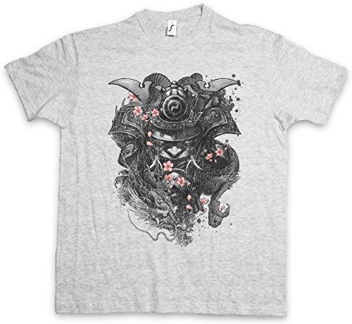 Urban Backwoods Samurai Cherry Blossoms T-Shirt - Taglie S – 5XL Ash