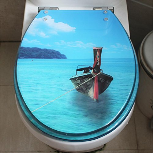 Uncle Sam LI Creative Résine Thickening UVO Universal Siège de toilette | Charnières Stable | Facile à monter |