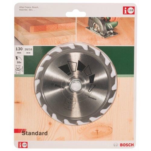 Bosch 2 609 256 802 - Hoja de Sierra Circular Standard, 130 x 1,2 x 20/16 mm, 18 dientes