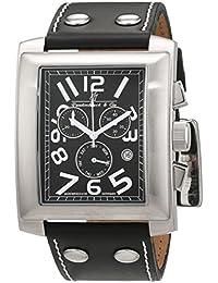 Lindberg & Sons Damen-reloj analógico de pulsera automático de cuero LS-RG-HBL-L