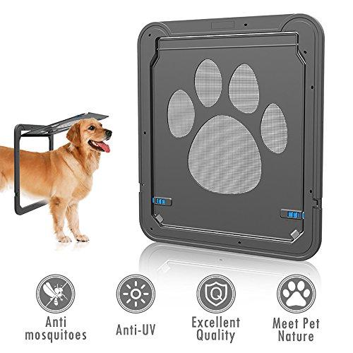 ubest Katzenklappe mit Magnetverschluss - 31cm x 36cm - Freilauftür für Katzen und kleine Hunde